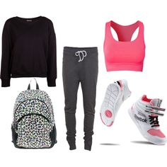 A fashion look from July 2013 featuring BLK DNM tops, VILA activewear pants and Pure Lime sports bras. Browse and shop related looks.
