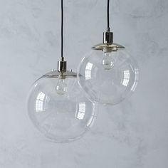 Use these with Edison filament bulbs over dining room table? Globe Pendant - Clear | West Elm