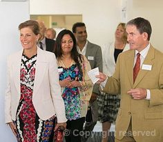 The Countess of Wessex, Patron, The National Autistic Society, tours the facilities at the Chitra Sethia Autism Centre, at the Fulbourn Hospital near Cambridge, 5 September 2013.