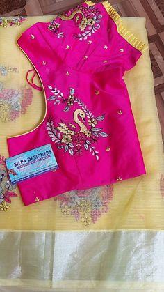 Brocade Blouse Designs, Saree Jacket Designs, Cotton Saree Blouse Designs, Kids Blouse Designs, Hand Work Blouse Design, Simple Blouse Designs, Stylish Blouse Design, Designer Blouse Patterns, Bridal Blouse Designs