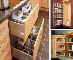 How Different Types Of Flooring Can Influence The Look Of Your Kitchen. Kitchen  Cabinet StorageKitchen Storage SolutionsKitchen ...