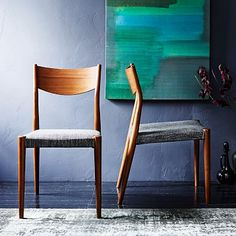 Tate Upholstered Dining Chair + Sets #westelm set of four for 796!! with our fabric...could be perfect 32.4H