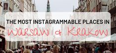 The most Instagrammable places in Warsaw and Krakow Visit Poland, Instagram Worthy, Krakow, Photo Location, Warsaw, Bucket Lists, Picture Ideas, Travelling, Cool Photos