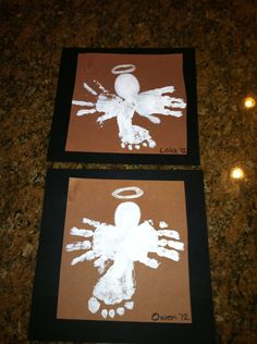 Foot/Hand Print Angels