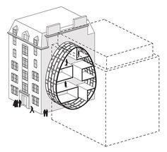 Skinny micro-housing designs lets you live between buildings : TreeHugger