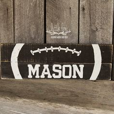 Football sign name sign football room Check out this item in my Etsy shop https://www.etsy.com/listing/452717126/child-football-sign
