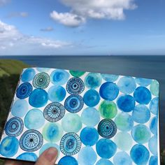 A spot of outdoor doodling today inspired by the beautiful colours of the Cornish coast! Watercolour and ink sketchbook doodles by Kate Hadfield inspired by the Cornish coast and Creative Bug's Sketchbook Explorations course.