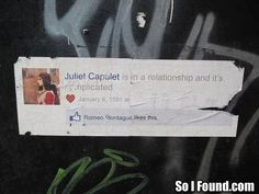 Juliet Capulet is in a relationships and it's complicated