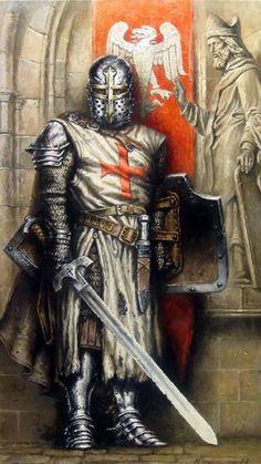 Knight In Shining Armor, Knight Armor, Medieval Knight, Medieval Art, Medieval Fantasy, Knights Templar, Chivalry, Medieval Times, Fantasy Warrior
