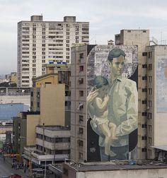 Mural by ARYZ (Spain) for the IV Festival Huellas del Arte, Maracay, Venezuela (2015)