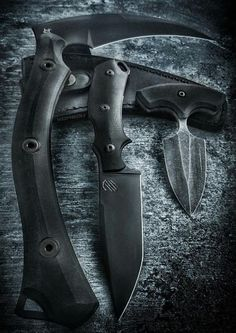 RED V2 Fixed Blade Knife Black PVD by Bastinelli Creations