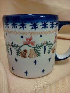 Polish pottery - Christmas bells mug - wouldn't a whole mixed set of Christmas mugs be fun?