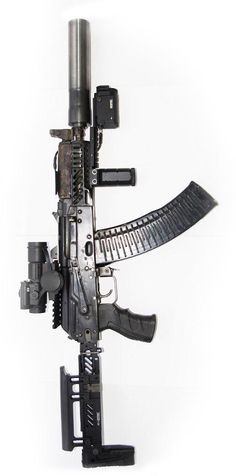 suppressed AKS-74U assault rifle