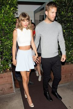 Taylor Swift and Calvin Harris Cozy Up for Date Night in L.A. - Celebrity Street Style