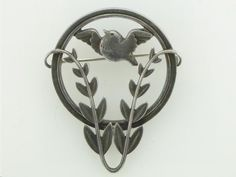 Georg Jensen Sterling Dove Pin