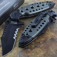 MTECH BALLISTIC Opening Folding Aluminum Handle Rescue Pocket Knife KARAMBIT NEW