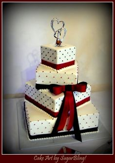 Red and Black Wedding Cake By Dani1081 on CakeCentral.com