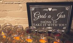Cute sign for drinks! http://www.countryoutfitter.com/style/real-country-wedding-alyssa-stone/