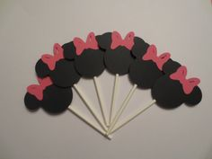 Minnie Mouse Cupcake Toppers on Etsy, $9.00