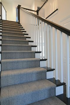Stairway Herringbone Carpet With Stair Color Janssen Stairs – carpet stairs Stairway Carpet, Carpet Stairs, Stairs With Carpet Runner, Hallway Carpet, Staircase Runner, Hallway Runner, Stair Runners, Landing Decor, Stairs Colours