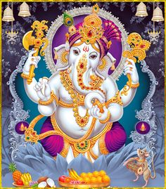 Make this Ganesha Chathurthi 2020 special with rituals and ceremonies. Lord Ganesha is a powerful god that removes Hurdles, grants Wealth, Knowledge & Wisdom. Ganesha Pictures, Ganesh Images, Shiva Parvati Images, Shiva Shakti, Shiva Art, Ganesha Art, Hindu Art, Indian Gods, Indian Art