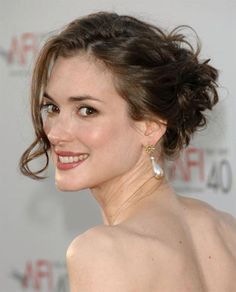 Winona Ryder Updo For Thin Hair