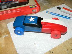 Texas flag pinewood derby car