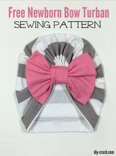 Free Newborn Bow Turban Sewing Pattern