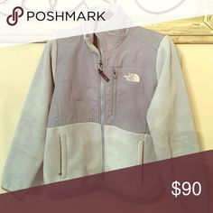 NorthFace Denali fleece Womens light blue North Face denali fleece in EUC. Always washed per directions- on gentle, no fabric softener and line dried. Absolutely love this fleece, only selling because it is too small for me now. The North Face Jackets & Coats
