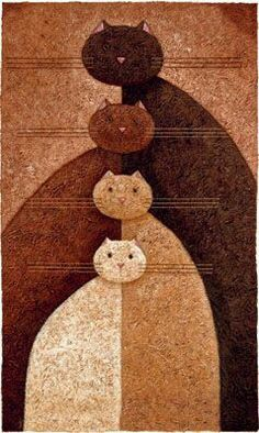 MUST recreate on a quilt! great idea for any art project. Peter Adderley ART -Great idea for Mary who loves cats & quilts Quilting Projects, Quilting Designs, Quilt Inspiration, Quilt Modernen, Cat Quilt, Animal Quilts, Cat Crafts, Mug Rugs, Applique Quilts