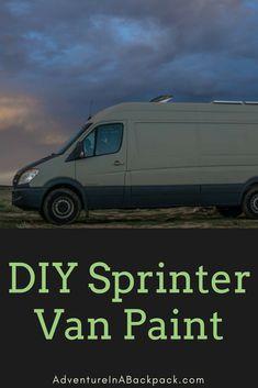 We painted our Sprinter Van completely ourselves using PlastiDip and it turned out GREAT! DIY Campervan   Sprinter Van Conversion   Van Life   Custom Campervan   Van Paint   Custom Paint job