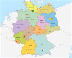 Grote kaart De deelstaten van Duitsland