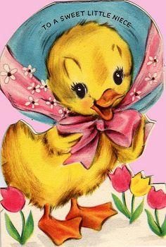 Vintage Hallmark Duck in Hat Easter Greeting Card Easter Art, Hoppy Easter, Easter Crafts, Easter Bunny, Easter Ideas, Easter Greeting Cards, Vintage Greeting Cards, Vintage Easter, Vintage Holiday