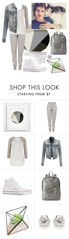 """""""Female Joey Graceffa"""" by d-e-s-i-g-n ❤ liked on Polyvore featuring Topshop, maurices, LE3NO, Converse and Candie's"""