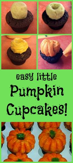 These are always a huge hit!. Easy little pumpkin cupcakes.