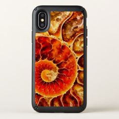 Orange Nautilus Art Speck iPhone X Case - modern gifts cyo gift ideas personalize