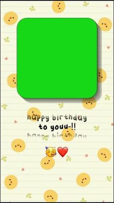 Happy Birthday Template, Happy Birthday Video, Aesthetic Editing Apps, Aesthetic Songs, Birthday Post Instagram, Happy Birthday Quotes For Friends, Green Screen Video Backgrounds, Overlays Instagram, Instagram Frame Template