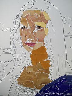 Mona Lisa Collages  mosaics? fourth grade
