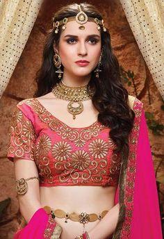 Bridal and Engagement Lehenga Choli Lehenga Choli Online, Bridal Lehenga Choli, Ghagra Choli, Indian Gowns Dresses, Indian Outfits, Bollywood Lehenga, Lehenga Style, Saree Blouse Patterns, Indian Ethnic Wear