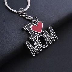 "2017 I LOVE MAMA ""key ring Dijiao pendant zinc alloy metal gifts Key Chain"