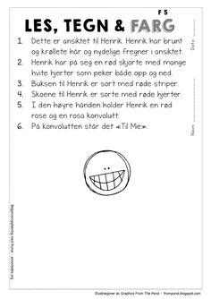 En dag unna februar | Begynneropplæring med Runar Barn Crafts, Too Cool For School, Teaching Reading, Reading Comprehension, Teaching English, Second Grade, Grammar, Literacy, Kindergarten
