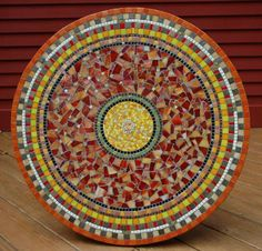 A mosaic table created by my friend Nikki
