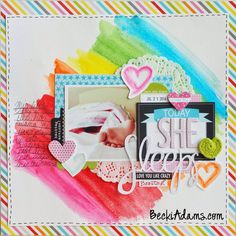 #papercraft #scrapbook #layout.  Becki Adams Designs: Let's Talk Tuesday: Gelatos Tutorial