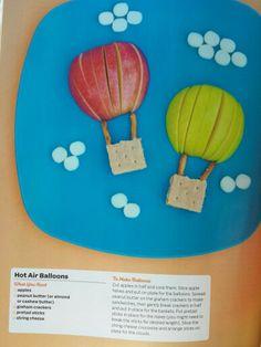 Apple hot air balloons