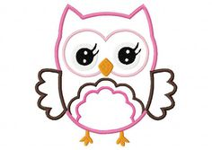 Cute Girl Owl Applique by DaisySproutsDesigns on Etsy, $2.99