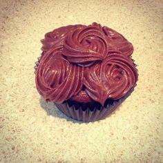Today's Cupcake: Double Chocolate Malted Milk Cupcake with Chocolate Malted Milk Buttercream Frosting (201 calories for full size cupcake) #double #chocolate #malted #milk #cupcake #buttercream #frosting #rosettes #bakery #baking #cupcakery #cupcakesconfidential #disabled #donate #donationsaccepted #edibleart #fromscratch #givingback #gratitude #help #heroes #helpaveteran #homemade #military #nonprofit #thankful #unsungheroes #veteran #veterans