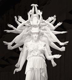 Thousand hands classical sculpture Xu Zhen
