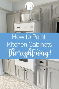 Read this tutorial for how to paint your kitchen cabinets from start to finish! #paintingkitchencabinets Farmhouse Style Kitchen, Diy Kitchen, Kitchen Design, Kitchen Ideas, Kitchen Layout, Kitchen Interior, Farmhouse Decor, Make Kitchen Look Bigger, Repainting Kitchen Cabinets