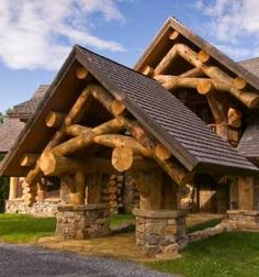 log cabin bar ideas   The log home house plans featured here showcase an astounding rustic ...