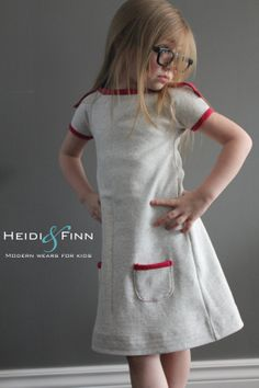 New PlayDay Dress PDF pattern and tutorial 6-12y old - heidiandfinn, $6,95